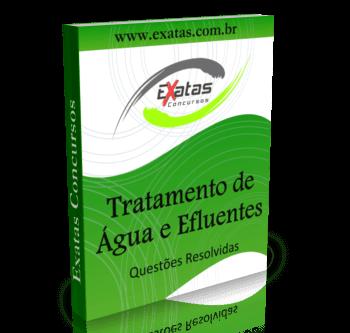 Apostila com questões resolvidas de Tratamento de Água e Efluentes para o cargo de Técnico(a) Ambiental Júnior, da Petrobras e Transpetro.
